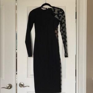 Stella McCartney Black and Sheer Midi Dress